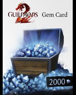 Guild Wars 2 2000 Gem Card